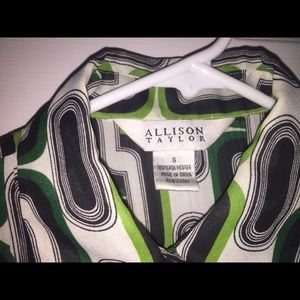 Allison Taylor Tops - 3/4 sleeve blouse with geometric pattern